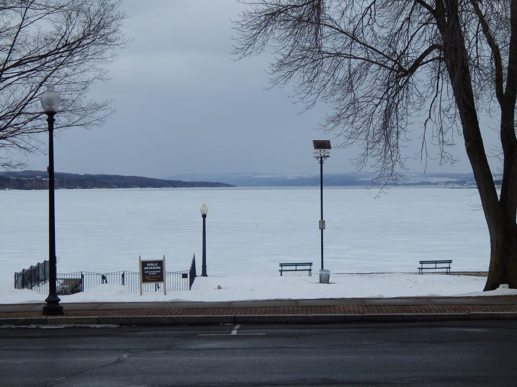 Winter Firmly Entrenched at Skaneateles, NY