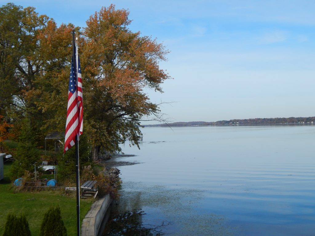 Cayuga Lake at Wolffy's Grill and Marina