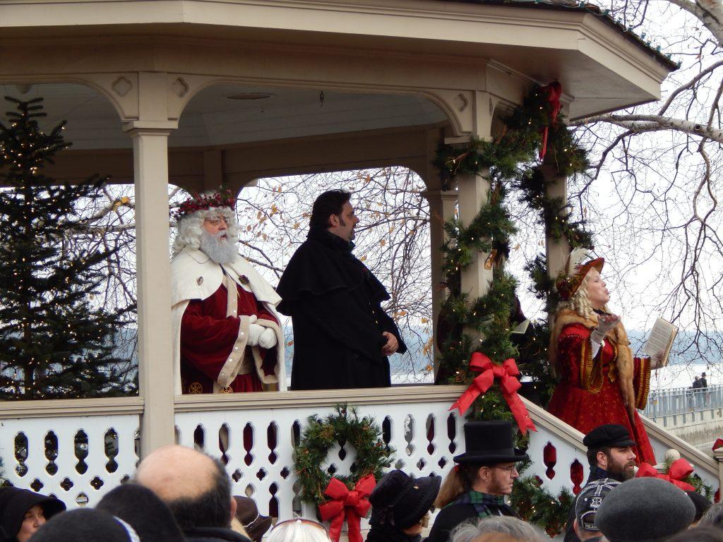 Singing Carols at the Gazebo