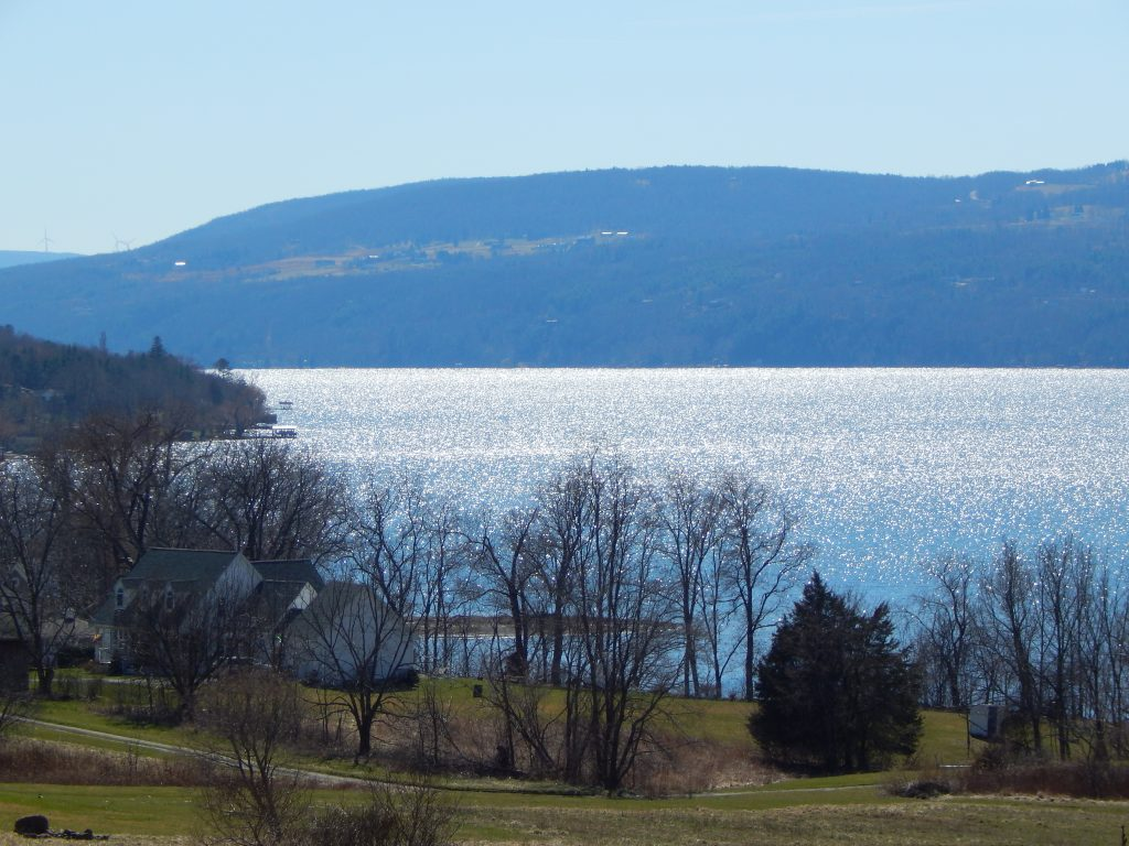 Canandaigua Lake Shimmers in the Spring Sun
