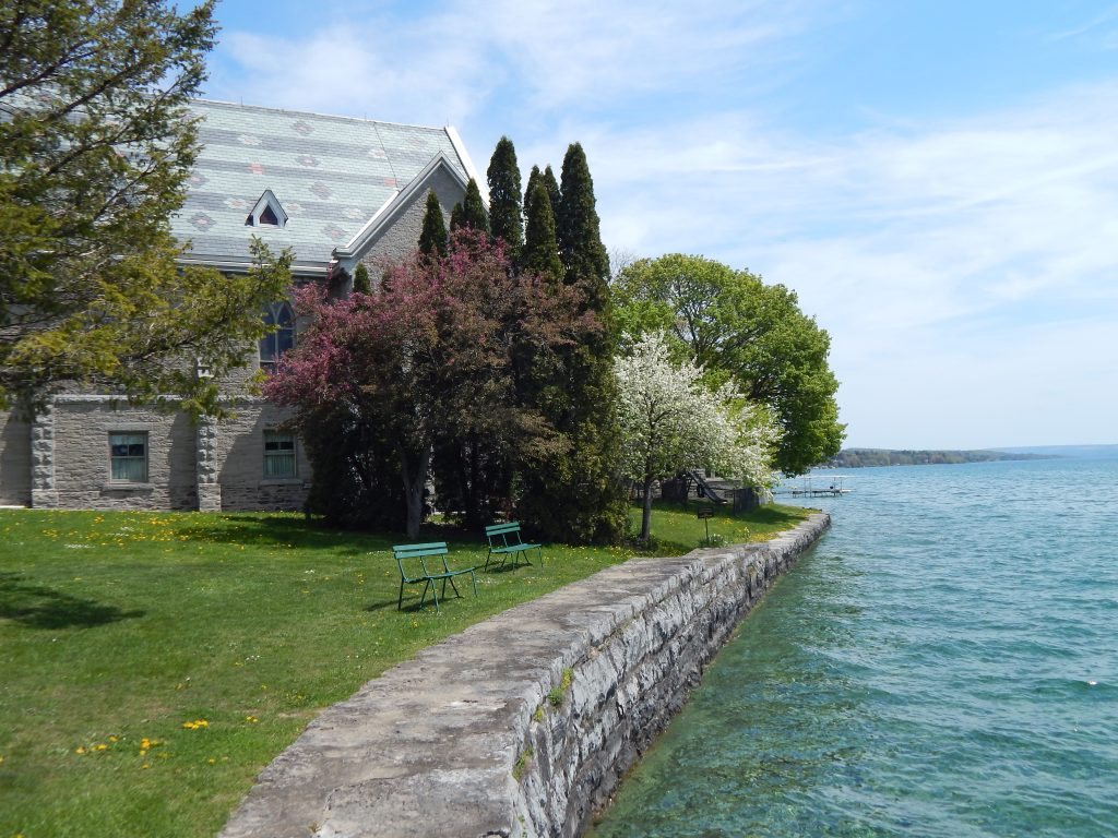 The Lakeside View of the St. James Episcopal Church