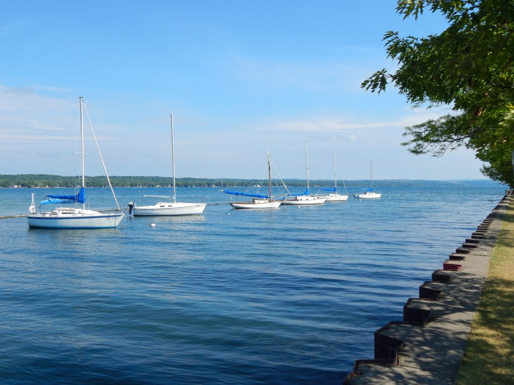 Sailboats Moored Along the West Outlet