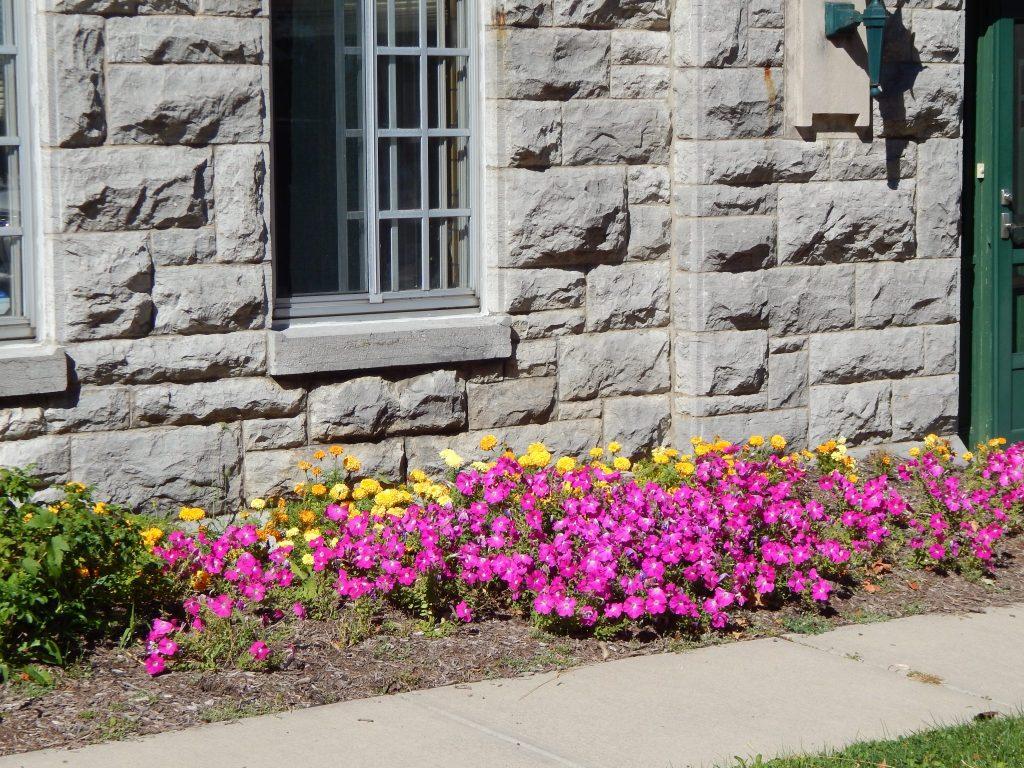 Flowers Along Genesee Street in Skaneateles