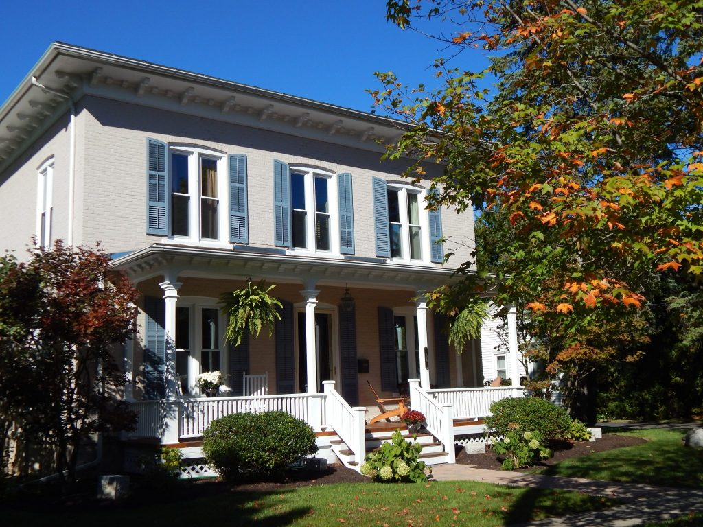 A Home Beautifully Decorated For Fall in Skaneateles