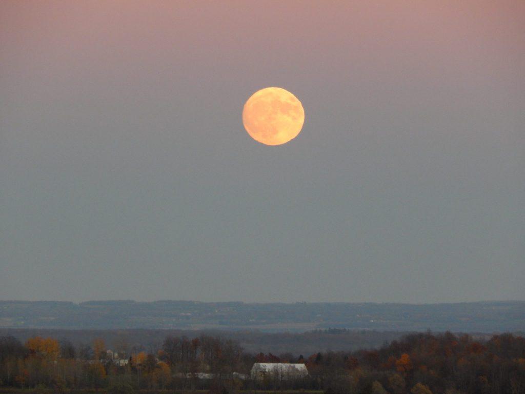Full Moon Over Penn Yan, NY