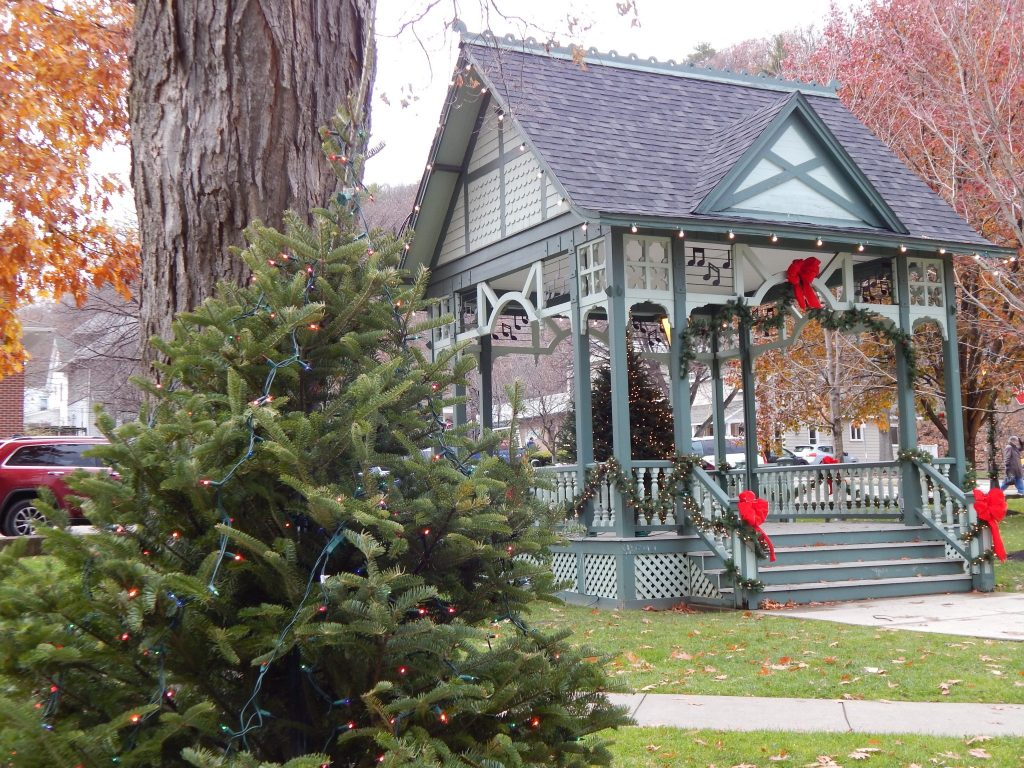 The Bandstand Decorated For The Holidays