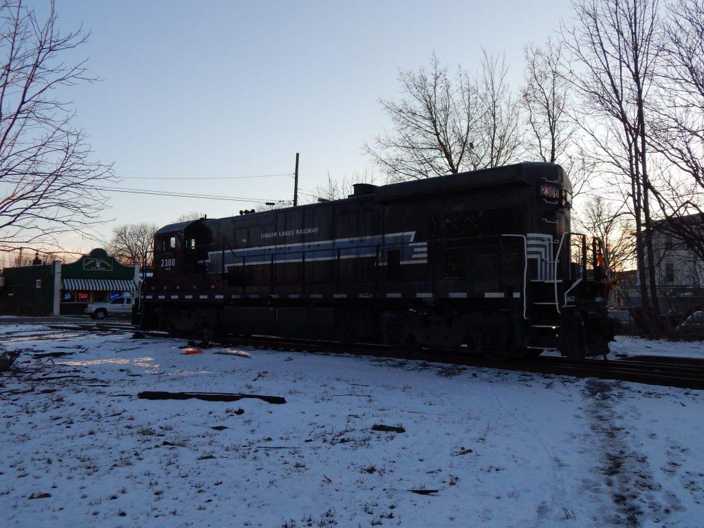 Finger Lakes Railroad at Morgan's Grocery